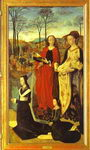 Tommaso Portinari with his sons and SS. Thomas and Anthony Abbot. The left panel of the Portinari Al