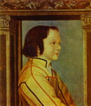 Portrait of a Boy with Chestnut Hair.