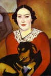 Lady with a Dog. Portrait of Esther Schwartzmann.