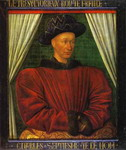Portrait of Charles VII, King of France.