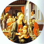 Madonna and Child with Stories of the Life of St. Anne.