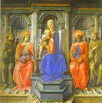 Madonna Enthroned with Four Saints.
