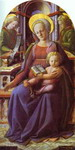 Madonna and Child Enthroned with Two Angels.