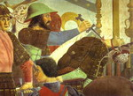 Legend of the True Cross: Battle Between Heraclius and Chosroes. Detail.
