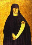St. Monica. Panel of the Sant'Agostino altarpiece.