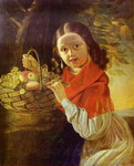 Girl with Fruit.
