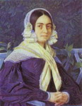 Portrait of an Unknown Woman in a Violet Dress.