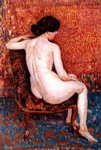 Sitting Nude on Chair.