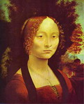 Portrait of Ginevra de'Benci.