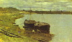 Barges. The Volga.