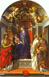 Madonna and Child Enthroned with St John the Baptist, St Victor, St Bernard and St Zenobius