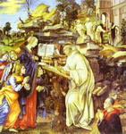 The Apparition of the Virgin to St. Bernard.