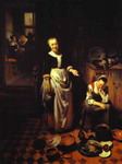 Interior with a Sleeping Maid and Her Mistress (The Idle Servant).