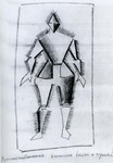 Traveler. Sketch of a costume for the opera