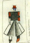 Undertaker. Sketch of a costume for the opera