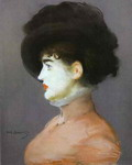 The Viennese: Portrait of Irma Brunner in a Black Hat.