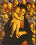 Madonna with Child and Angels.