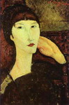 Adrienne (Woman with Bangs). 1917. Oil on canvas.