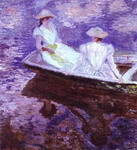 Young Girls in a Boat.