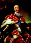 Portrait of Peter the Great.
