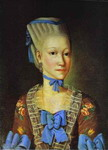 Portrait of Elizaveta Cherevina at the Age of 12. 1773.