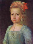 Portrait of Anna Lermontova at the Age of 5.