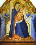 Madonna and Child Enthroned with Eight Angels.