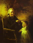 Portrait of John Tait and His Grandson.