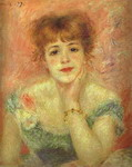 Portrait of the Actress Jeanne Samary.