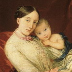 Grand Duchess Maria Nikolaevna with Her Children. Detail.