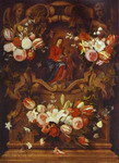 Daniel Seghers and J. van Thielen. Floral Wreath with Madonna and Child.