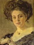 Portrait of Yevdokia Morozova. Detail.