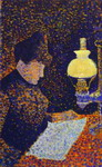 Woman by Lamplight.