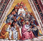 The Doctors of the Church. Fresco.