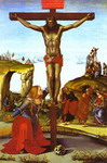 The Crucifixion with St. Mary Magdalen.