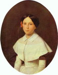 Portrait of a Student of Smolny Institute for Young Ladies.