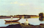 Fishermen. A View in the Estate of Spasskoe.