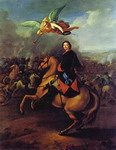 Peter the Great During the Battle of Poltava.