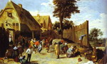 Peasants Dancing Outside an Inn.