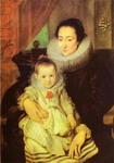 Marie Clarisse, Wife of Jan Woverius, with Their Child.