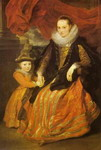 Portrait of Susanna Fourment and Her Daughter.