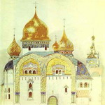 Sketch for a church in an old Russian style.