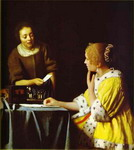 Lady with Her Maidservant.