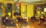 Interior. Sitting Room with Three Lamps, Saint-Florentin Street