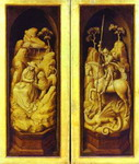 Sforza Triptych. St. Jerome and St. George. The exterior.