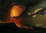 Vesuvius in Eruption, with a View over the Islands in the Bay of Naples.