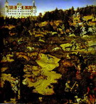 Lucas Cranach the Elder or Lucas Cranach the Younger. A Hunt in Honor of Charles V at Torgau Castle