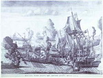 Battle of Gangut, June 27, 1714.