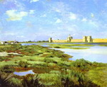 Landscape of Aigues-Mortes.
