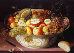 Still Life of fruit in a Wan-li Bowl.